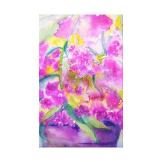 Impressão Em Canvas phlox da aguarela