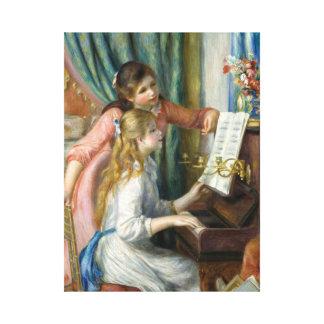 Impressão Em Canvas Pierre Renoir - raparigas no piano