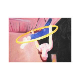 Impressão Em Canvas Pintura a óleo das separações na aro/Lyra aéreos