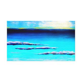 Impressão Em Canvas pintura abstrata da praia