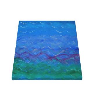 Impressão Em Canvas Pintura acrílica sereno da água
