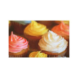 Impressão Em Canvas Pintura colorida dos cupcakes