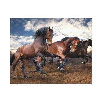 Impressão Em Canvas Pintura da parede dos cavalos