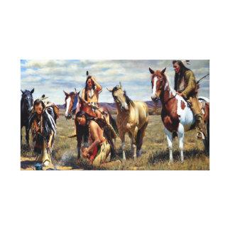 Impressão Em Canvas Pintura do nativo americano