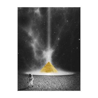 Impressão Em Canvas Pirâmide do astronauta e do ouro