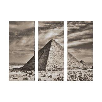 Impressão Em Canvas Pirâmide do Sepia