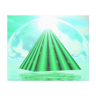 Impressão Em Canvas Pirâmide Mystical - 3D rendem