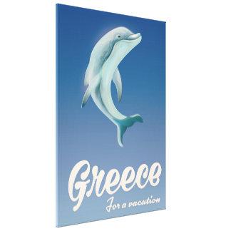 Impressão Em Canvas Piscina para um poster de viagens do golfinho das