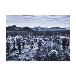 Impressão Em Canvas Plantas de deserto do cacto de Cholla do urso de