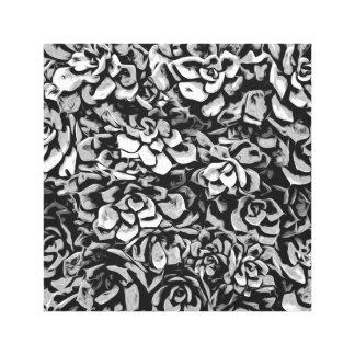 Impressão Em Canvas Plantas de preto e branco