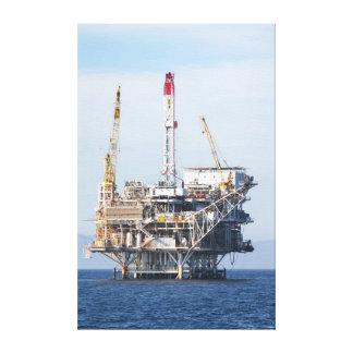 Impressão Em Canvas Plataforma petrolífera