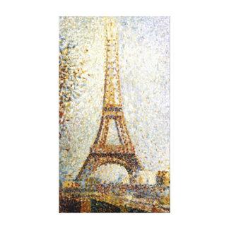 Impressão Em Canvas Pointillism da torre Eiffel de Georges Seurat