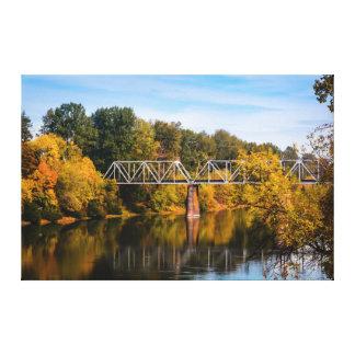 Impressão Em Canvas Ponte da estrada de ferro sobre o rio