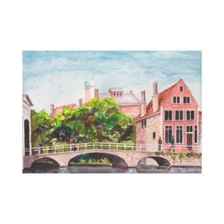 Impressão Em Canvas Ponte de Bruges pelo Greenfield de Farida