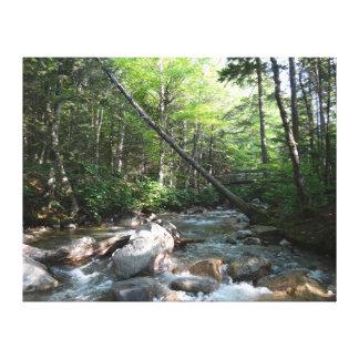 Impressão Em Canvas Ponte do rio de Pemigewasset em New Hampshire