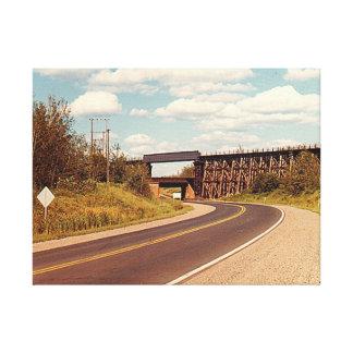 Impressão Em Canvas Pontes dobro da estrada de ferro