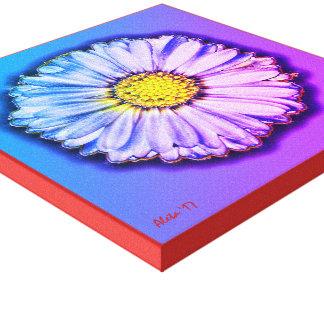 Impressão Em Canvas Pop art colorido do ~ inglês da margarida por