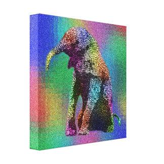 Impressão Em Canvas Pop art do elefante do bebê,