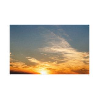 Impressão Em Canvas Por do sol colorido - Anglesey, Wales norte