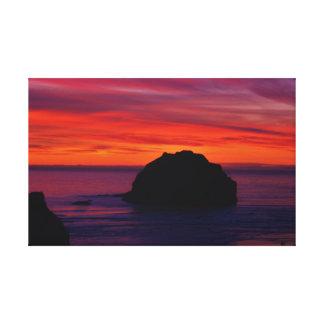 Impressão Em Canvas Por do sol da rocha da cara