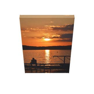Impressão Em Canvas Por do sol de Mendota do lago