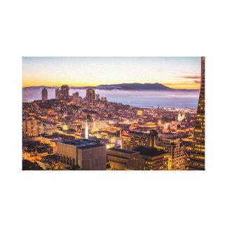 Impressão Em Canvas Por do sol de San Fran
