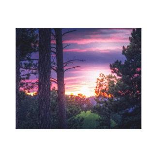 Impressão Em Canvas Por do sol de South Dakota