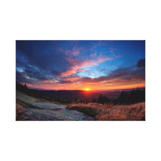 Impressão Em Canvas Por do sol do parque nacional do Acadia