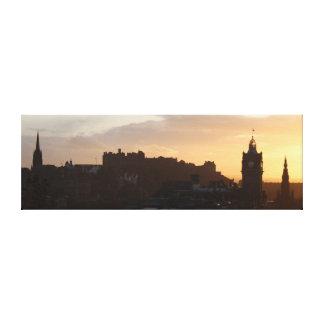 Impressão Em Canvas Por do sol em Edimburgo