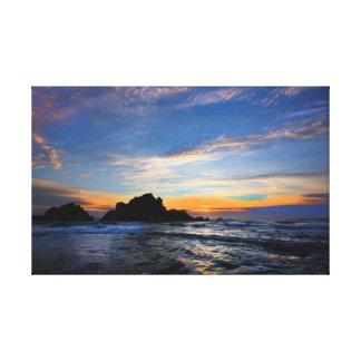 Impressão Em Canvas Por do sol grande de Sur