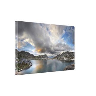 Impressão Em Canvas Por do sol no lago médio Nydiver - serra