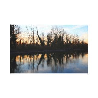 Impressão Em Canvas Por do sol no rio