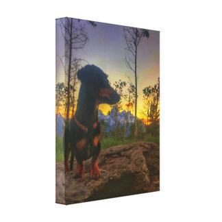 Impressão Em Canvas Por do sol sobre o Tetons