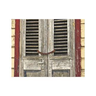 Impressão Em Canvas Porta fechado - porta velha - casa das caraíbas
