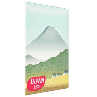 Impressão Em Canvas Poster das viagens vintage da montanha de Japão