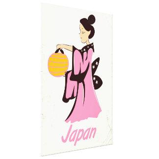 Impressão Em Canvas Poster das viagens vintage de Japão da menina de
