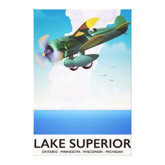 Impressão Em Canvas Poster das viagens vintage do suporte do Lago