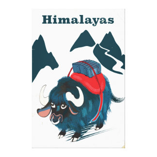 Impressão Em Canvas Poster das viagens vintage dos Himalayas