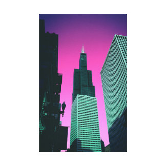 Impressão Em Canvas Poster de Chicago