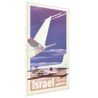 Impressão Em Canvas Poster de viagens comercial do avião de