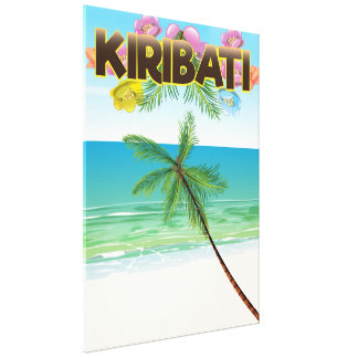 Impressão Em Canvas Poster de viagens da ilha de Kiribati