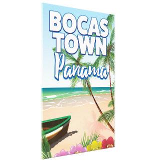 Impressão Em Canvas Poster de viagens da praia de Panamá da cidade de