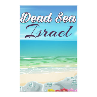 Impressão Em Canvas Poster de viagens de Israel do Mar Morto