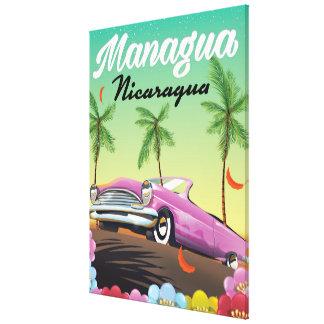 Impressão Em Canvas Poster de viagens de Managua - de Nicarágua