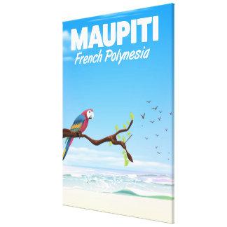 Impressão Em Canvas Poster de viagens de Maupiti Polinésia francesa