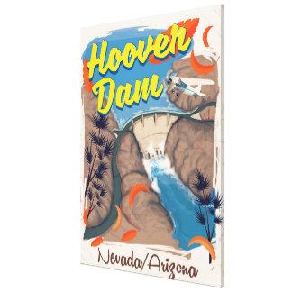 Impressão Em Canvas Poster de viagens do barragem Hoover