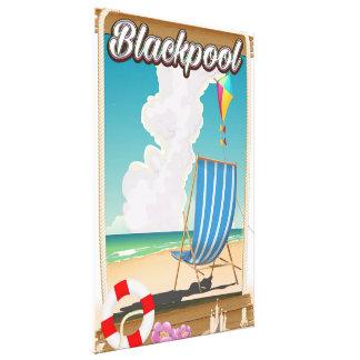Impressão Em Canvas Poster de viagens do beira-mar da praia de