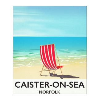 Impressão Em Canvas Poster de viagens do beira-mar do Caister-em-Mar
