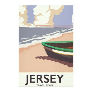 Impressão Em Canvas Poster de viagens do beira-mar do vintage do