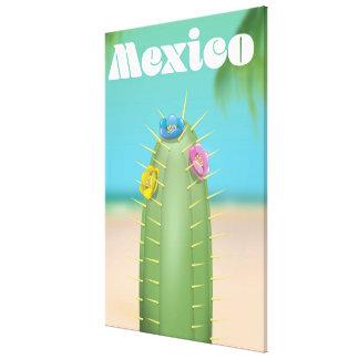 Impressão Em Canvas Poster de viagens do cacto de México